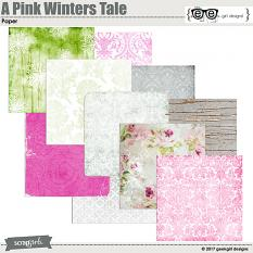 A Pink Winters Tale Paper Set