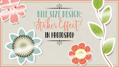 Bite Size Design: Sticker Effect in PS Video Lesson