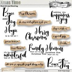 Xmas Time Word art and Word Tag by florju designs