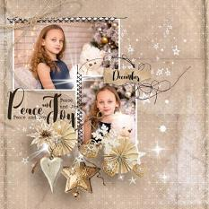 layout using Xmas Time Collection Biggie by florju designs
