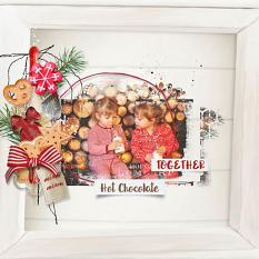 layout using Value Pack: Christmas Cake by florju designs