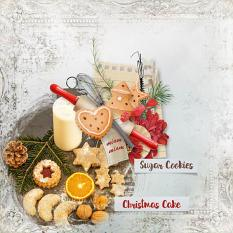 layout using Christmas cake Embellishment Mini: Cluster Pack 2 by florju designs