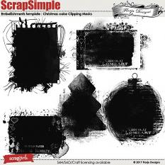 ScrapSimple Embellishment template :Christmas Cake Clipping Mask by florju designs
