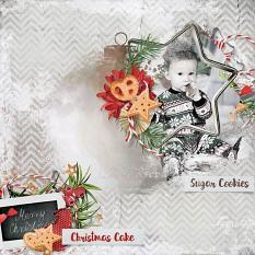layout using  ScrapSimple Embellishment template :Christmas Cake Clipping Mask by florju designs