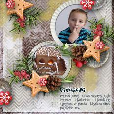 layout using Christmas Cake Collection Biggie by florju designs