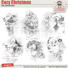 Cozy Christmas Jolly Santa Brushes by On A Whimsical Adventure
