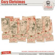 Cozy Christmas Tickets by On A Whimsical Adventure