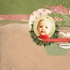 Digital layout using Value Pack: Cozy Christmas by On A Whimsical Adventure