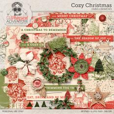 Cozy Christmas Embellishments by On A Whimsical Adventure