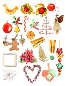 Home for Christmas Embellishment sheet 1 by Aftermidnight Design