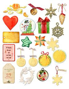 Home for Christmas Embellishment sheet 2 by Aftermidnight Design