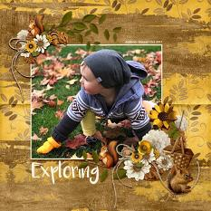 """Exploring"" Digital Scrapbooking Layout By Andrea Hutton"