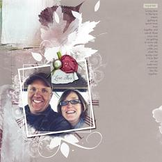 Scrapbook layout with Photo Mask Brush Video Lesson