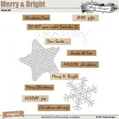 Merry and Bright Word Tags by florju designs