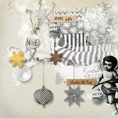 layout using Merry and Bright Word Tags by florju designs