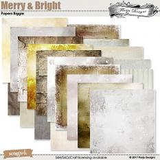 Merry And Bright Paper Biggie by florju designs