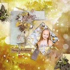 layout using Merry and Bright Collection Biggie by florju designs