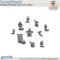ScrapSimple Embellishment Templates: Charms Vol5 by On A Whimsical Adventure
