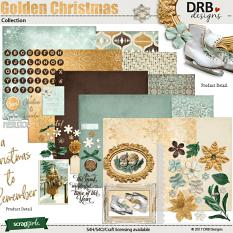 Golden Christmas Collection by DRB Designs | ScrapGirls.com