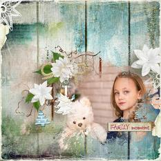 layout using Tropical Xmas Embellishment Mini : Cluster Pack 2 by florju designs