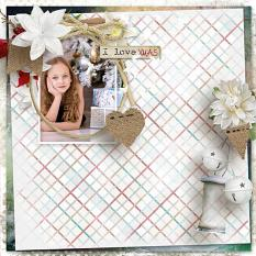 layout using Tropical Xmas Paper Biggie by florju designs