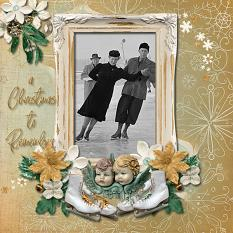 """""""A Christmas to Remember"""" digital scrapbook layout by Marie Hoorne"""