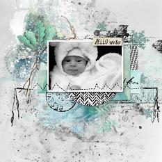layout using Freezing Memories Embellishment Mini: Cluster Pack 2 by florju designs