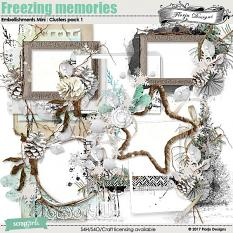 Freezing Memories Embellishment Mini: Cluster Pack 1 by florju designs
