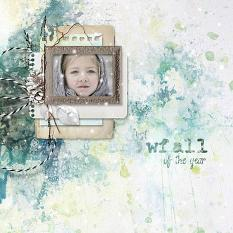 layout using Freezing Memories Embellishment Mini: Cluster Pack 1 by florju designs