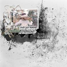 layout using Freezing Memories Embellishment Mini: Stamp by florju designs