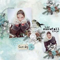 layout using  Freezing Memories Word Art and Word Tag by florju designs