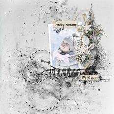 layout using Freezing Memories Paper Biggie by florju designs
