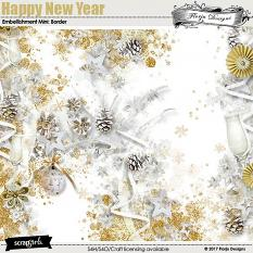 Happy New Year Embellishment Mini: Borders by florju designs
