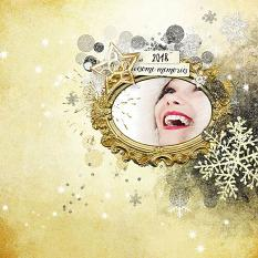 layout using  Happy New Year Embellishment Mini: Cluster Pack 1 by florju designs
