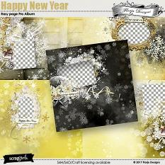 Happy New Year Easy Page pro Album by florju designs