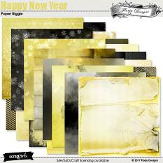 Happy New Year paper Biggie by florju designs