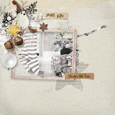layout using Merry and Bright Embellishment Biggie by florju designs