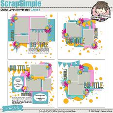 Cheer 1 Digital Scrapbook Templates by Dagi's Temp-tations