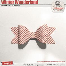 Winter Wonderland Gift Bows by On A Whimsical Adventure