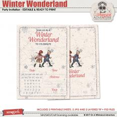 Winter Wonderland Party Invitation by On A Whimsical Adventure