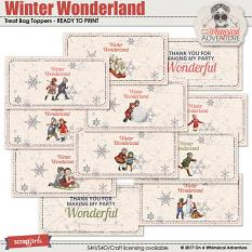 Winter Wonderland Treat Bag Toppers by On A Whimsical Adventure