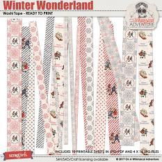 Winter Wonderland Washi Tape by On A Whimsical Adventure