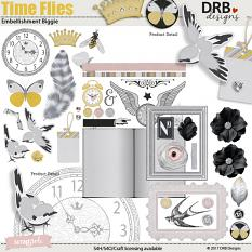 Time Flies Embellishment Biggie by DRB Designs | ScrapGirls.com