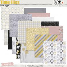 Time Flies Paper Biggie by DRB Designs | ScrapGirls.com