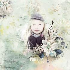 layout using ScrapSimple Paper Templates: Winter Wish by florju designs