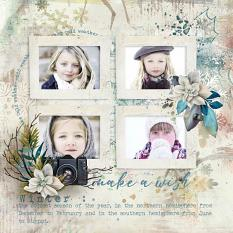 layout using  Winter Wish Embellishment Mini: Accents by florju designs