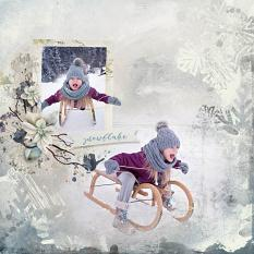 layout using ScrapSimple Embellishment template : Winter Wish Clipping Mask by florju designs