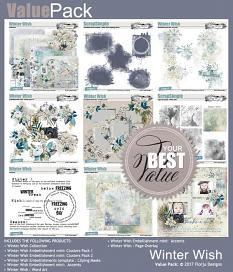layout using Winter Wish Embellishment Mini: Cluster Pack 2 by florju designs