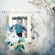 layout using Winter Wish Embellishment Mini: Cluster Pack 1 by florju designs