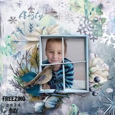 layout uisng Winter Wish Collection by florju designs